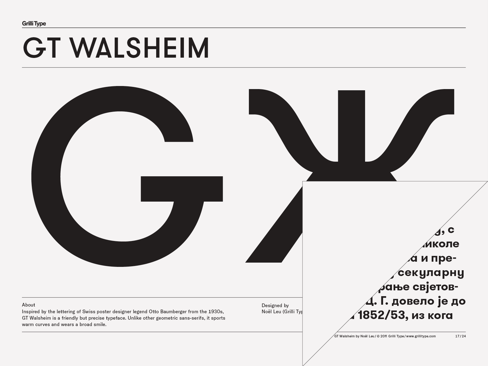 GT Walsheim – Grilli Type – Independent Swiss Type Foundry