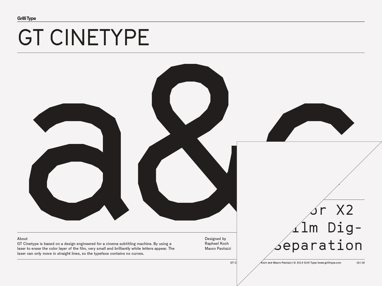 Gt Cinetype Grilli Type Independent Swiss Type Foundry Free