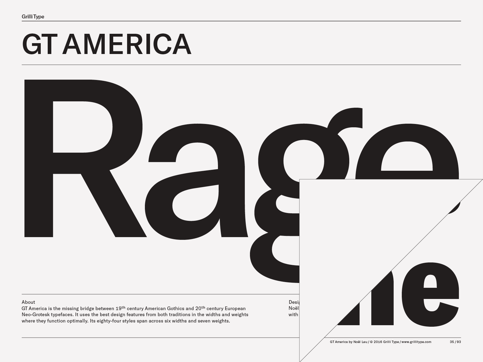 GT America – Grilli Type – Independent Swiss Type Foundry