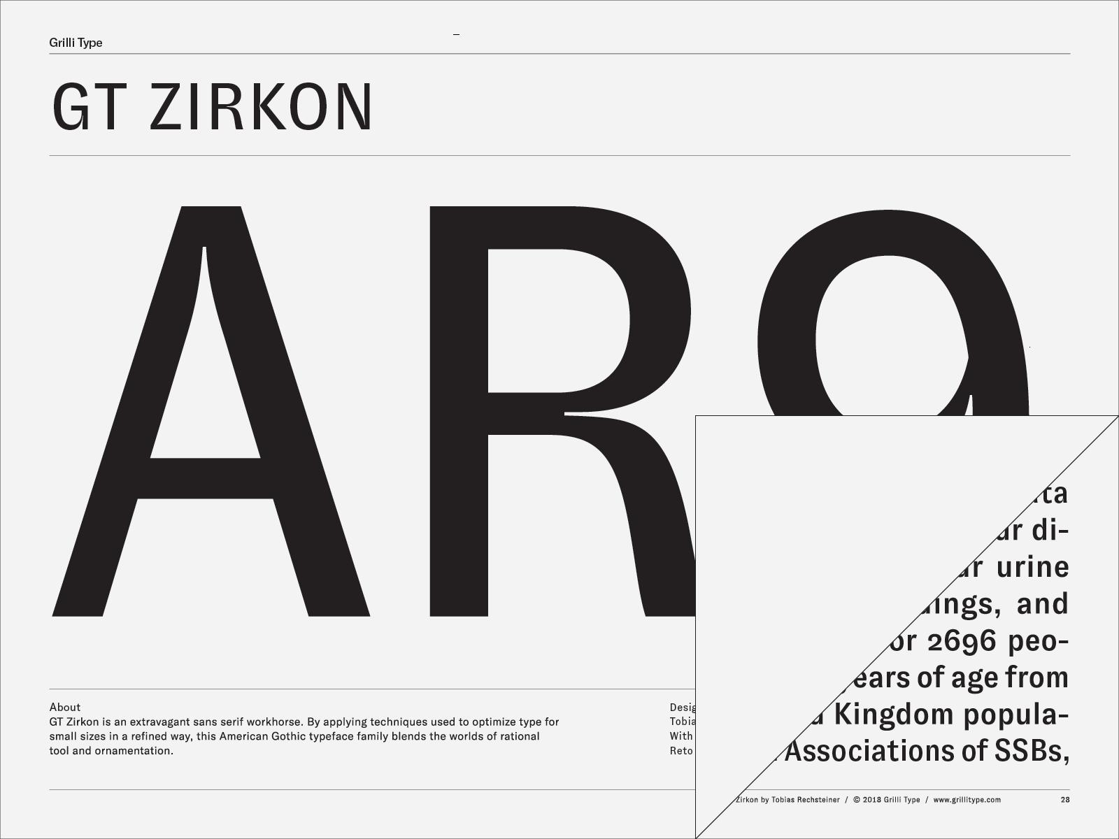 GT Zirkon – Grilli Type – Independent Swiss Type Foundry